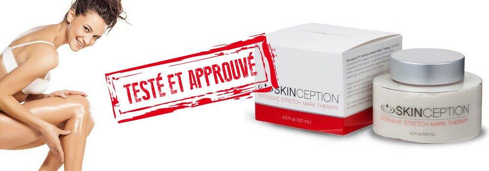 Action de la crème anti-vergeture Skinception est testée et approuvée